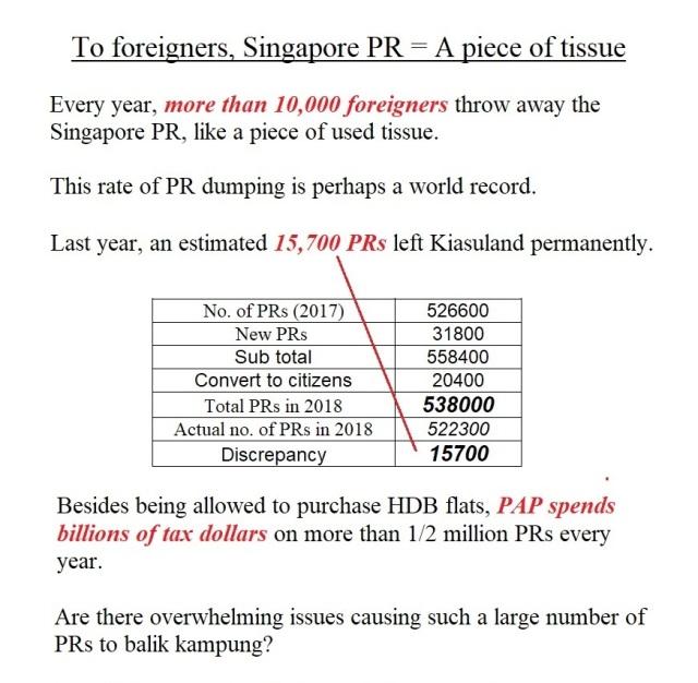singapore pr
