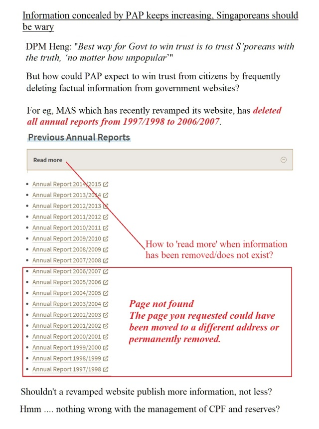 mas report deleted