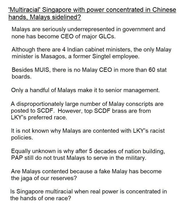 malays underrepresented