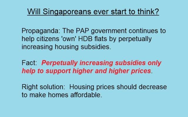 HOUSING SUBSIDIES INCREASE PRICES