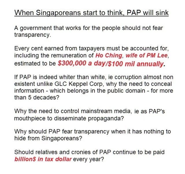 TRANSPARENCY WILL SINK pap